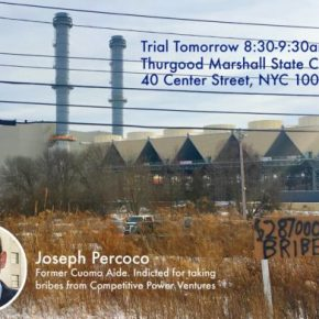 Earth Matters: Percoco and the Power Plant