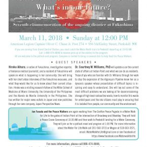 JOIN US - From Fukushima to Indian Point, What's in Our Future?