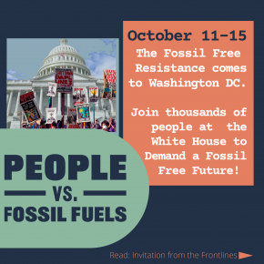 Build Back Fossil Free: UPDATE: Carrizo-Comecrudo Tribe and TX Delegates Leave for DC People V. Fossil Fuels